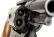 Revolver 38 Caliber Pistol Loaded Cylinder Gun Barrel Pointed