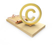Gold copyright symbol on mousetrap
