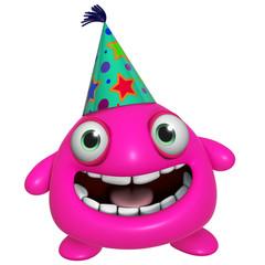 3d cartoon cute holiday pink monster
