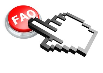 FAQ button with hand cursor