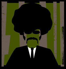 retro man with afro