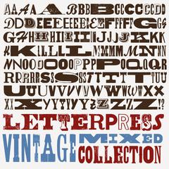 big mixed vintage letterpress collection