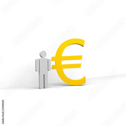 Euro, mann, geld, lohn, verdienst, gehalt, kosten, lohnkosten,