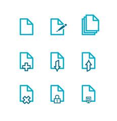 Icône fichier bleu