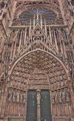 Central  portal of Strasbourg Cathedral (1439)