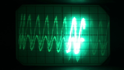graphics from the screen of an oscilloscope