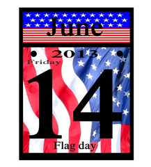 2013 june 14th flag day calendar date icon