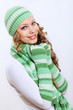 Young Woman Wearing Winter Hat...