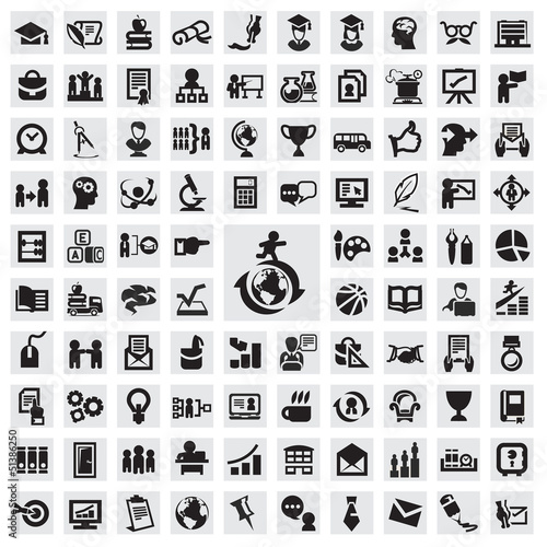 Set of icons. education