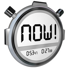 Now Word Stopwatch Timer Clock