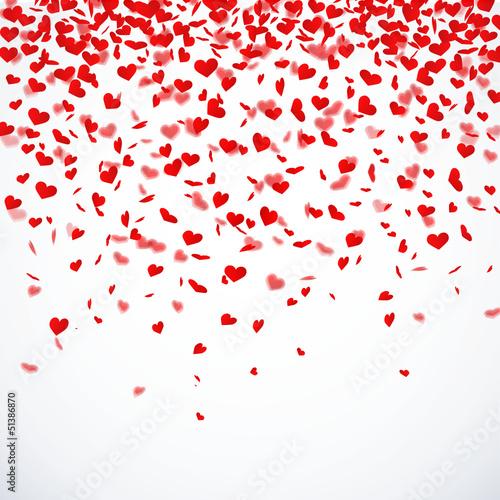 Plakat Herzkonfettiregen