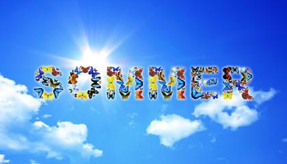 Sommer auf Wolkenhimmel