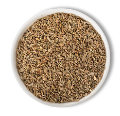 Anise seeds in plate isolated