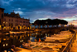 Desenzano Del Garda marina in the early morning.