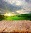 summer background with wooden planks