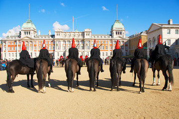 Parade with horses in London