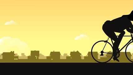 Radrennfahrerin beim Radrennen