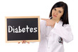 Ärztin mit Schild - Diabetes
