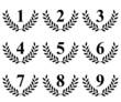 Lauriers de 1 à 9