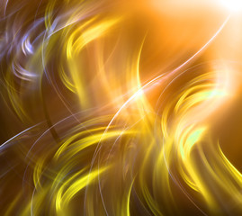 Abstract bright gold waves