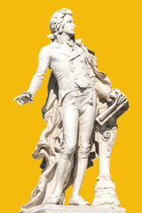 Statue of Wolfgang Amadeus Mozart in Vienna.