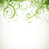 Vector Illustration of an Abstract Floral Background