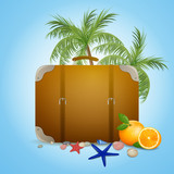 Vector Illustration of an Abstract Summer Travel Background