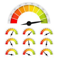 vector percentage rating chart