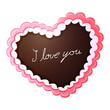 Vector Illustration of a Decorative Gingerbread Love Heart