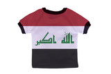 Small shirt with Iraq flag isolated on white background