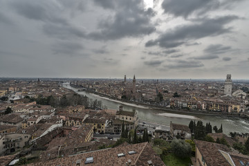 Verona Skyline a winter day
