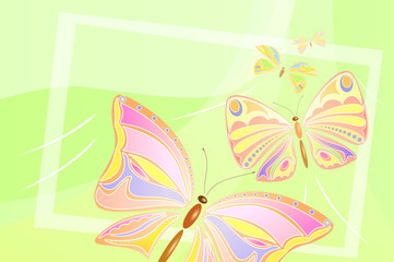 Flying butterflies design