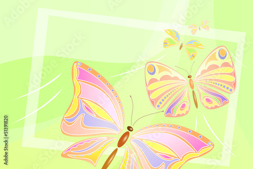 Flying butterflies design