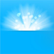 Light burst blue background