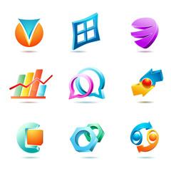set of symbols and icons