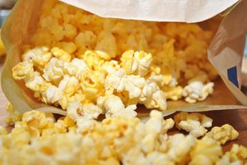 Popped Microwave Popcorn