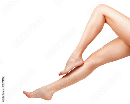 Woman legs perfectly shaped