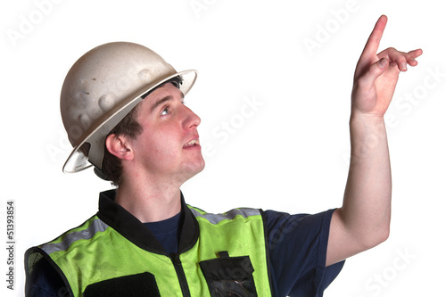 Construction Worker in safety jacket