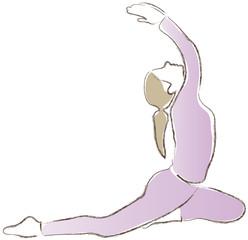 Yoga - Übung - Meditation - Entspannung - die Taube