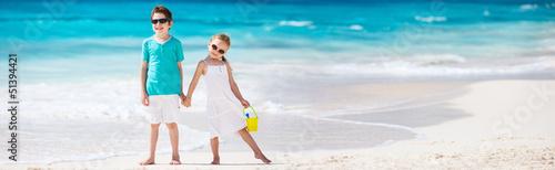 Little kids at beach