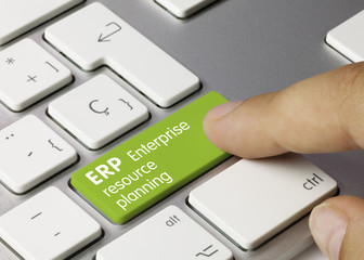 ERP Enterprise resource planning keyboard