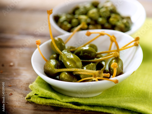 Capers. Caperberries