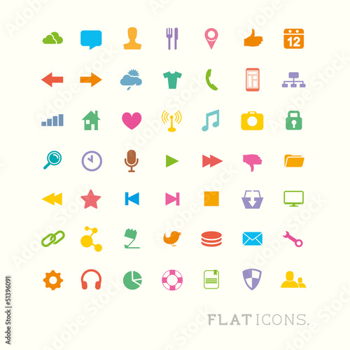 Colourful Interface Icons