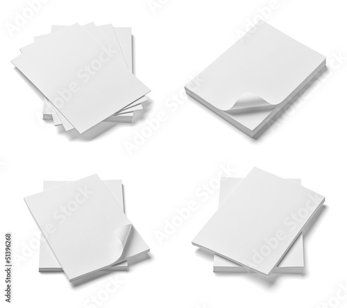 stack of papers with curldocuments office business