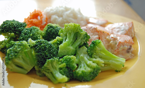 Broccoli with fish