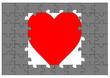 Puzzle pazıl tasarım kalp