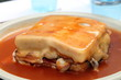 Francesinha on plate, typical food from Porto, Portugal