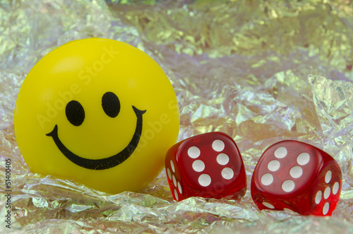 Smiley with pair of dice