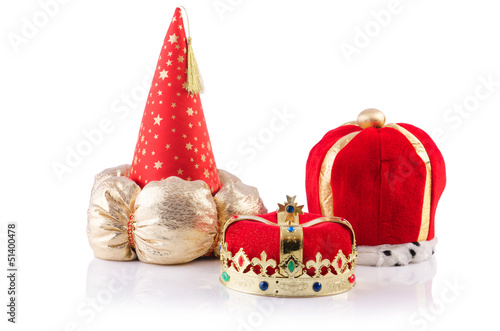 King crowns isolated on the white