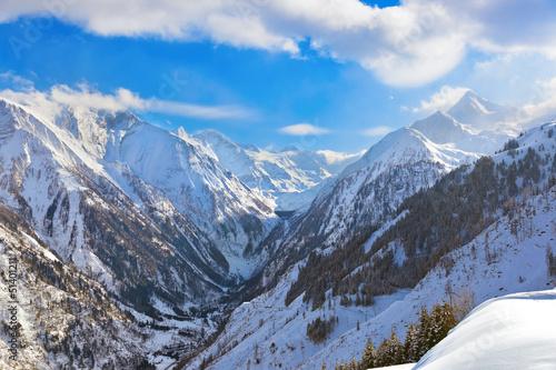 Mountains ski resort Kaprun Austria